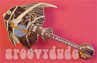 Hard Rock Cafe Sunrise ft Lauderdale Guitar Pin HRC Fish Series