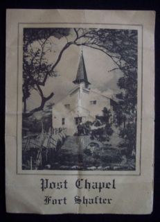 1953 US Army Fort Shafter Post Chapel Honolulu Hawaii