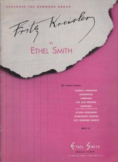 sheet music 1945 5 fritz kreisler arranged for hammond organ book 1953