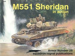 Squadron Signal M551 Sheridan in Action US Army Vietnam