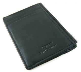 Dopp Mens Regatta Collection Black Front Pocket Wallet