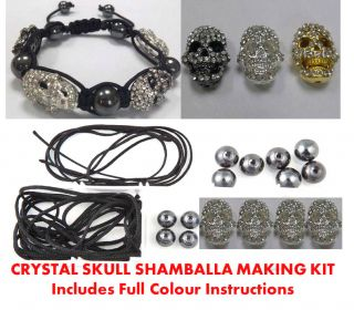 Skull Shamballa Friendship Bracelet Making Kit Instructions
