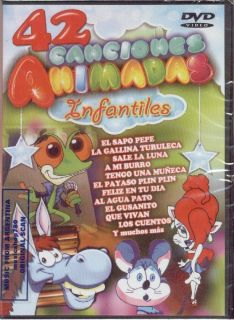 DVD 42 Canciones Animadas Sapo Pepe Payaso Plin Plin Songs for Kids in