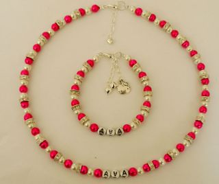Hello Kitty Charm Friendship Necklace and Bracelet Set