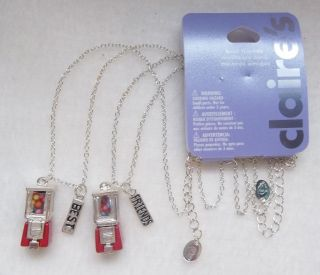 Machine Best Friend Necklace Set BFF 2 Necklaces Claires New