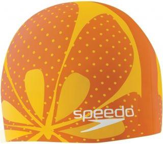 Competition Speedo Silicone Swim Cap Fruit Punch Orange New