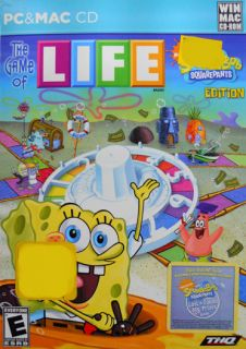 The Game of Life Spongebob Squarepants PC Mac Game New