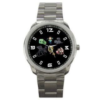 New Minecraft Characters Hot Game Sport Metal Watch Match With Your T