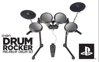 Ion IED08 Drum Rocker Premium Kit Set for PS2 PS3 Rock Band 2 3 Video