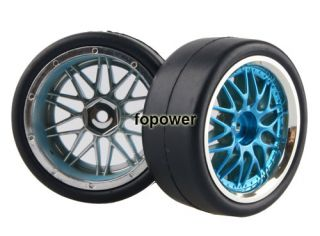 4pcs RC Flat Racing Tires Tyre Wheel Rim Fit HSP HPI 1 10 on Road Car