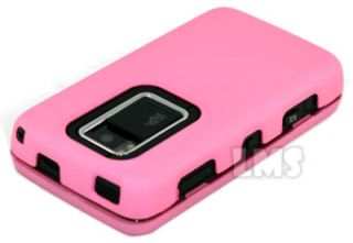 Baby Pink Hybrid Hard Cover Rubber Case for Nokia N900