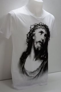 icon religious rock color white 100 % cotton hand printed