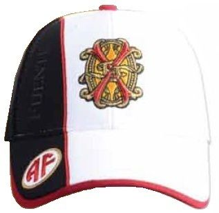 Fuente Fuente Opus X White FFOX Logo Baseball Cap w/ Black Side Panel