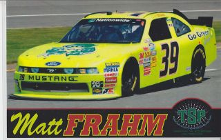 2012 Matt Frahm TSP Inc Nationwide Series Postcard