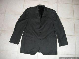 FUBU The Collection Mens Blazer 40 Regular 100 Wool 40R Dark Gray