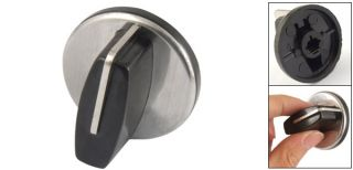 Replacement Black Silver Tone Switch Knob for Gas Stove