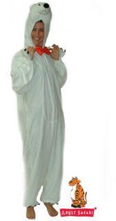 Safari Plush Full Body Adult Hooded Polar Bear Costume