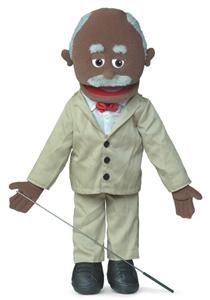 25 Pro Puppets Full Body African American Grandpa Puppet