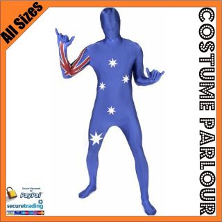 Suit Australia Day Full Body Spandex Zentai Lycra Skin Costume