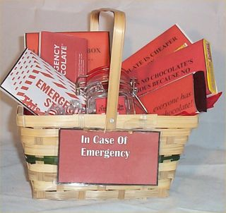 Chocolate Gift Basket Emergency Unique Gifts Candy Any Occasion