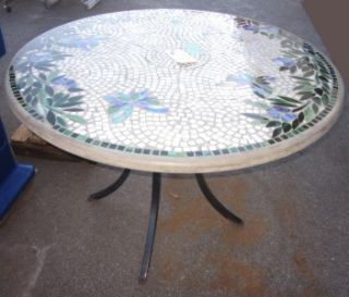 colorful mosaic patio table