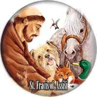 St Francis of Assisi Badges Buttons Pins 1inch 25mm