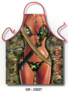 Kitchen aprons women men sexy military gag gifts BBQ funny aprons