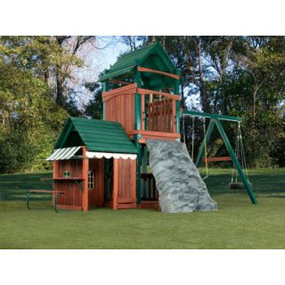 Swing N Slide Summer Fun Swing Set with Playhouse and Discovery