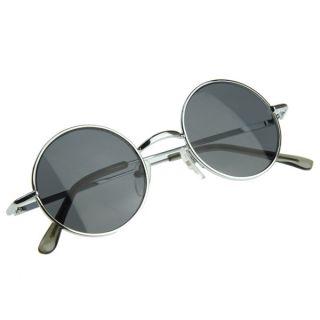 Inspired Small Full Metal Metal Circle Lens Sunglasses 8237 42mm