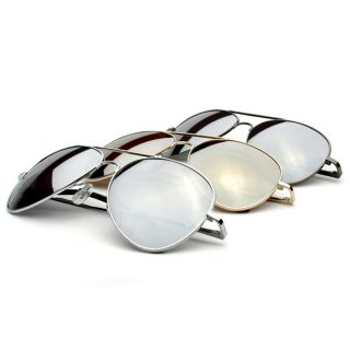 New Classic Full Mirrored Lens Metal CHP Aviator Top Gun Sunglasses 3