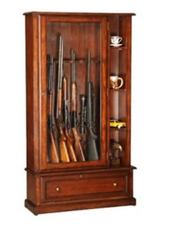 Curio cabinet vitrine by ebert furniture company of red American classic furniture company
