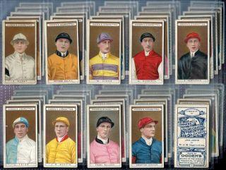 Tobacco Card Set Ogdens Owner Racing Colours Jockey Horse Racing 1906