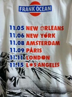 Frank Ocean Concert Tour T Shirt Nostalgia OFWGKTA Odd Future Supreme