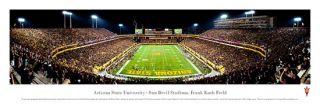 Arizona State Sun Devils Football Blackout 2011 Panoramic Poster Print