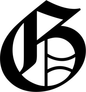 Letter G Old English Initial Decal Window Sticker