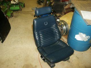 1990 Cadillac Eldorado Blue Leather Bucket Seats with Power Mechanism