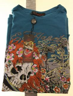 NWT Mens Ed Hardy Beautiful G Monster Short Sleeve Tee Size M T Shirt