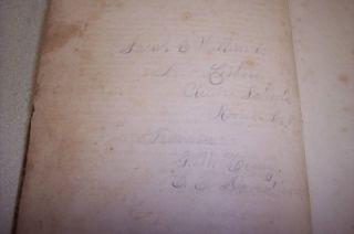 Sarah E Williard Family Heirloom 1881 New Lisbon Ohio