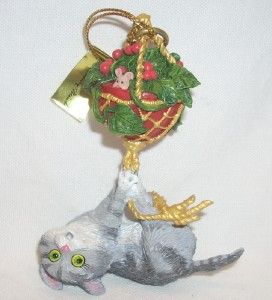 Danbury Gary Patterson What Now Comical Kitty Cat Christmas Tree