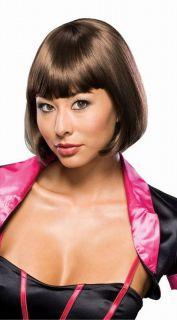 gabrielle brunette brown wig short bob pageboy womens ladies costume