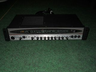 GK Gallien Krueger 1001RB Mark II Bi Amp 700 Watt Bass Head Amplifier