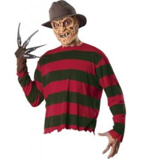 FREDDY KRUEGER NIGHTMARE ON ELM STREET SHIRT HAT GLOVE MASK HALLOWEEN