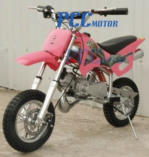 Brand Kid 49cc 50cc 2 Stroke Gas Motor Mini Bike Dirt Pit Bike Pink H