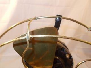 Antique GE General Electric Pancake Type Desk Fan Brass Blades Lot 140
