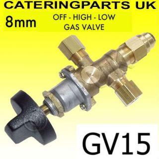 8mm LPG Catering Trailer Equipment Gas Tap FFD Valve