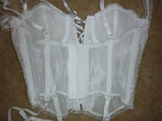 Frederick´s of Hollywood White Bride Wedding Corset Bustier Sequins