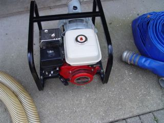 Stone Honda Gasoline Powered Water Pump with hoses and connectors