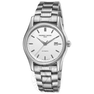 Frederique Constant Mens Index Silver Dial Watch FC303S6B6B