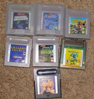 Lot of 7 Nintendo Game Boy Color Games, Monsters, Inc, Scrabble, Nija