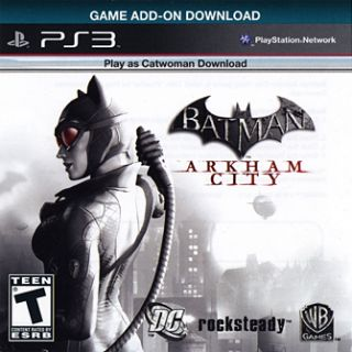 Batman Arkham City Catwoman Game  DLC Code New PS3 Playstation